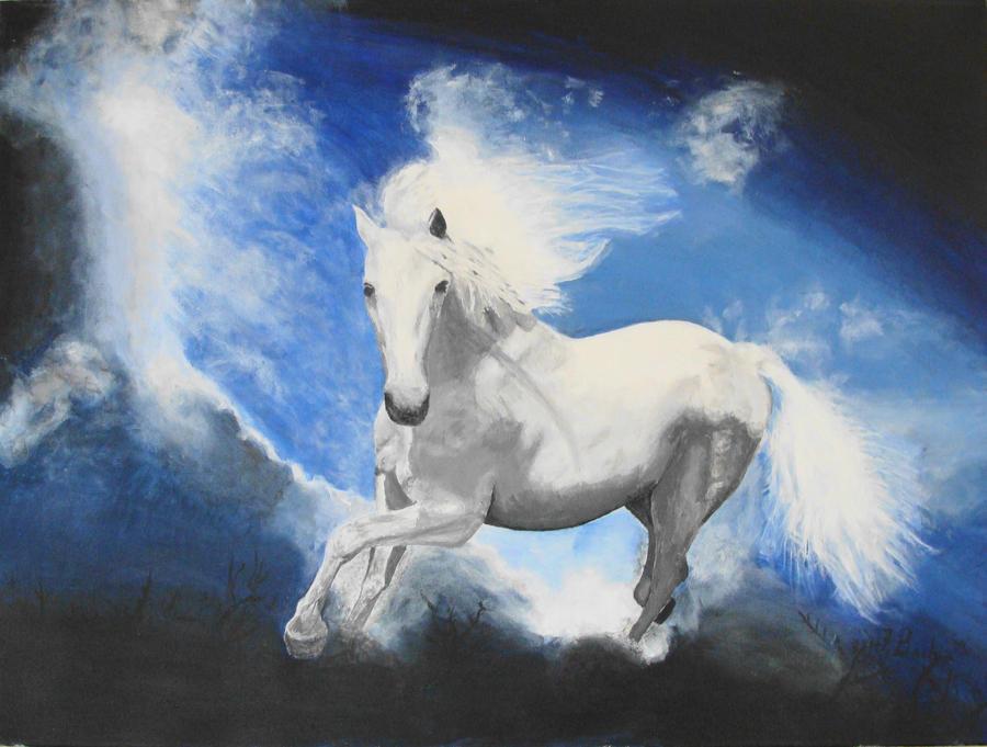 White arabian by ChinaJB