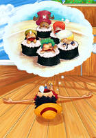 One Piece Sushi Mambo by kitanai-neko