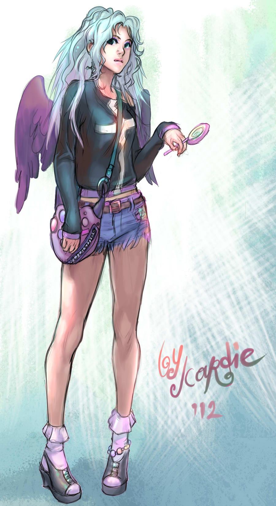 It's just a photo of Satisfactory Pastel Goth Girl Drawing