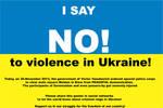 No! to violence on Euromaidan by WatashiwaKOdesu