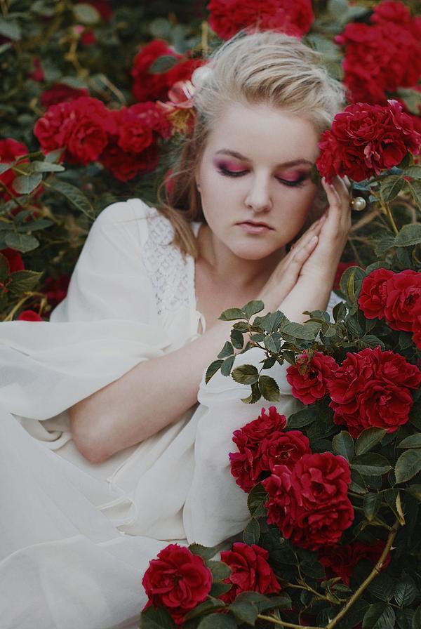 Blood Red Roses by WatashiwaKOdesu