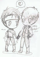 Chibi Wiccan x Hulkling by Mischief-Soul-Lover