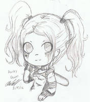 Chibi Harley Quinn (Suicide Squad) by Mischief-Soul-Lover