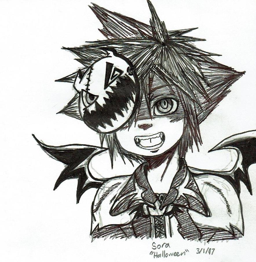 Halloween Town! Sora by Mischief-Soul-Lover
