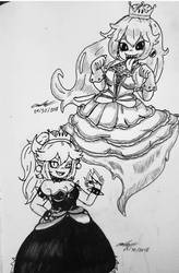 Bowsette and Boosette by Mischief-Soul-Lover