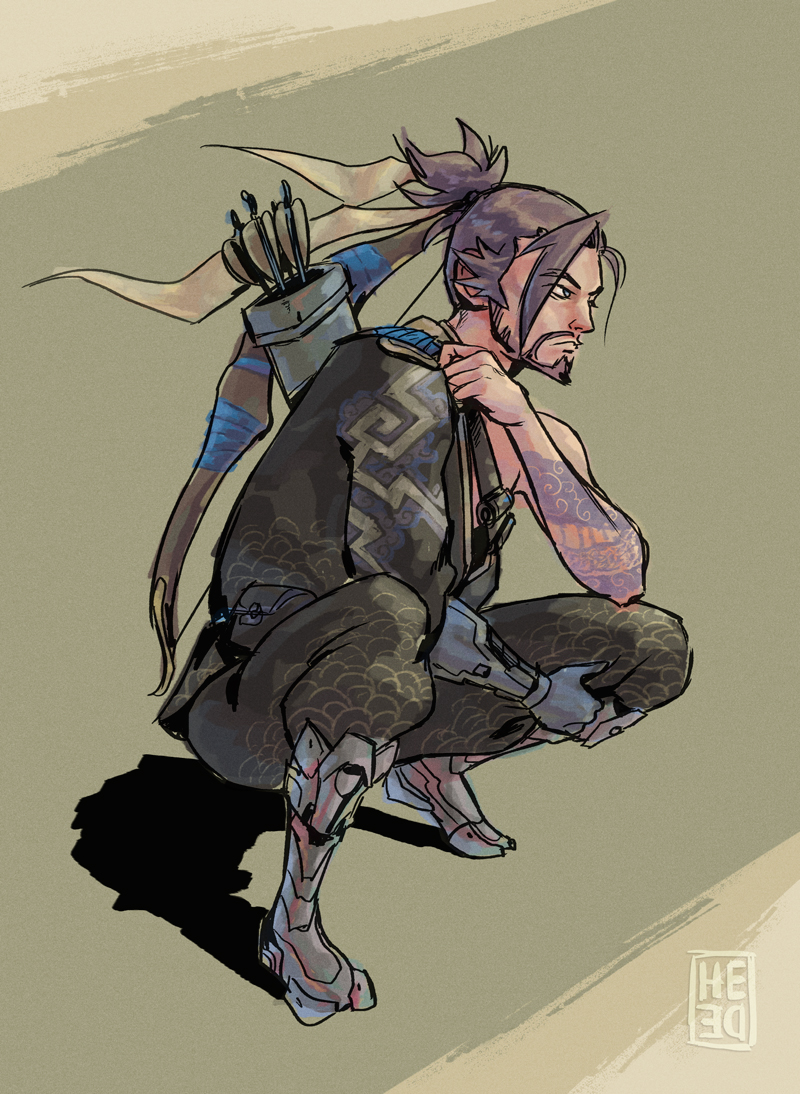 Sketchy Hanzo by He-de