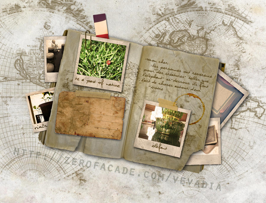 Vintage Travel Diary By Airielrian