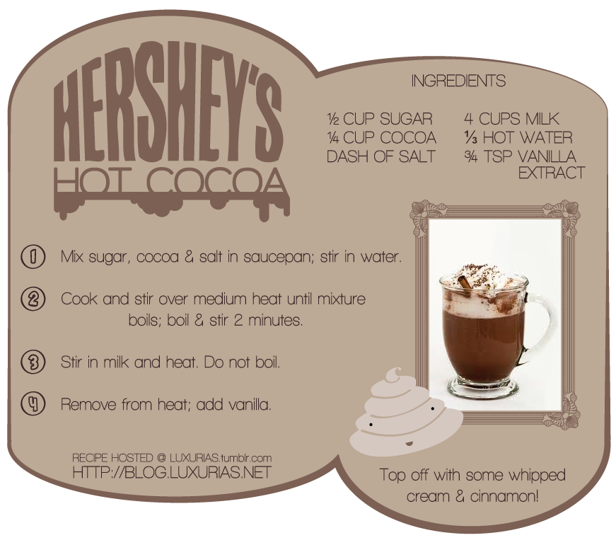 Hershey's Hot Coco Recipe by airielrian
