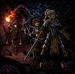 KonoSuba X Darkest Dungeon by Ermac23SS