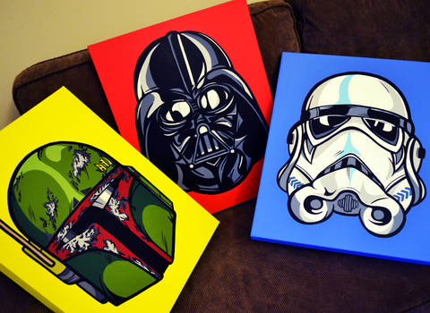 Star Wars Helmet Trio