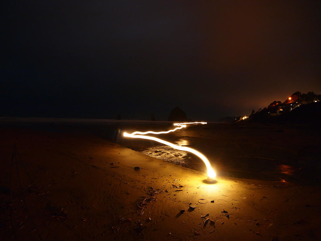 Cannon Beach light painting by ANameToBeProudOf ... & Cannon Beach light painting by ANameToBeProudOf on DeviantArt
