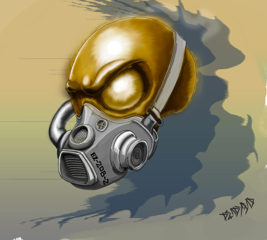 Pin Evil Gas Mask on P...