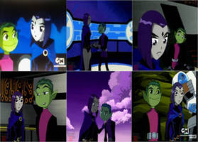 Beast boy and raven moments by rocky-road123