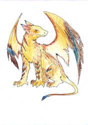 Gryphon dragon adoptible SOLD by Dogmaniac