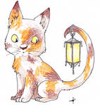 Calico lantern cat by Dogmaniac