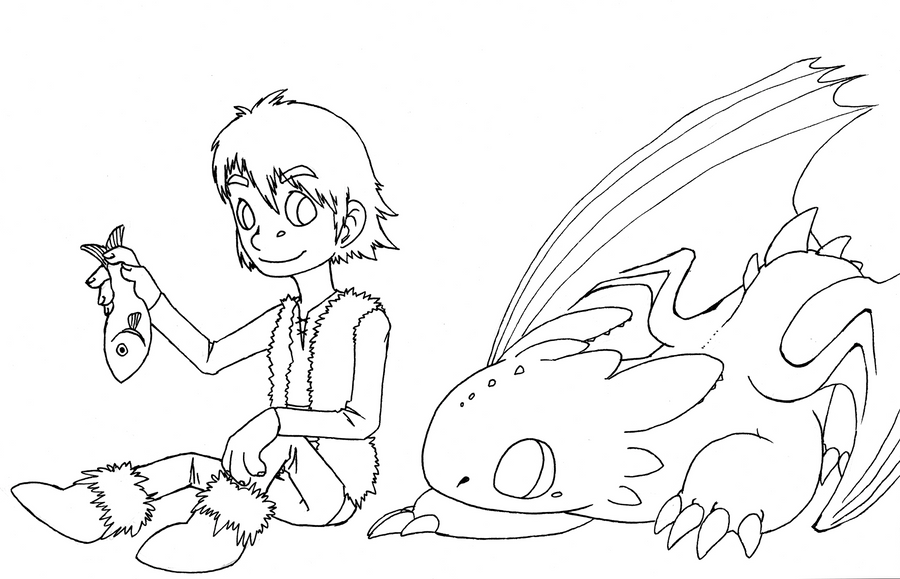 chibi toothless coloring pages | chibi hiccup n toothless by Dogmaniac on DeviantArt
