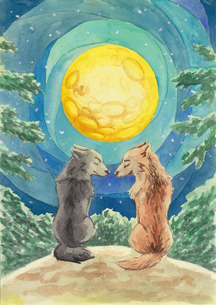 Moonlit night by Dogmaniac