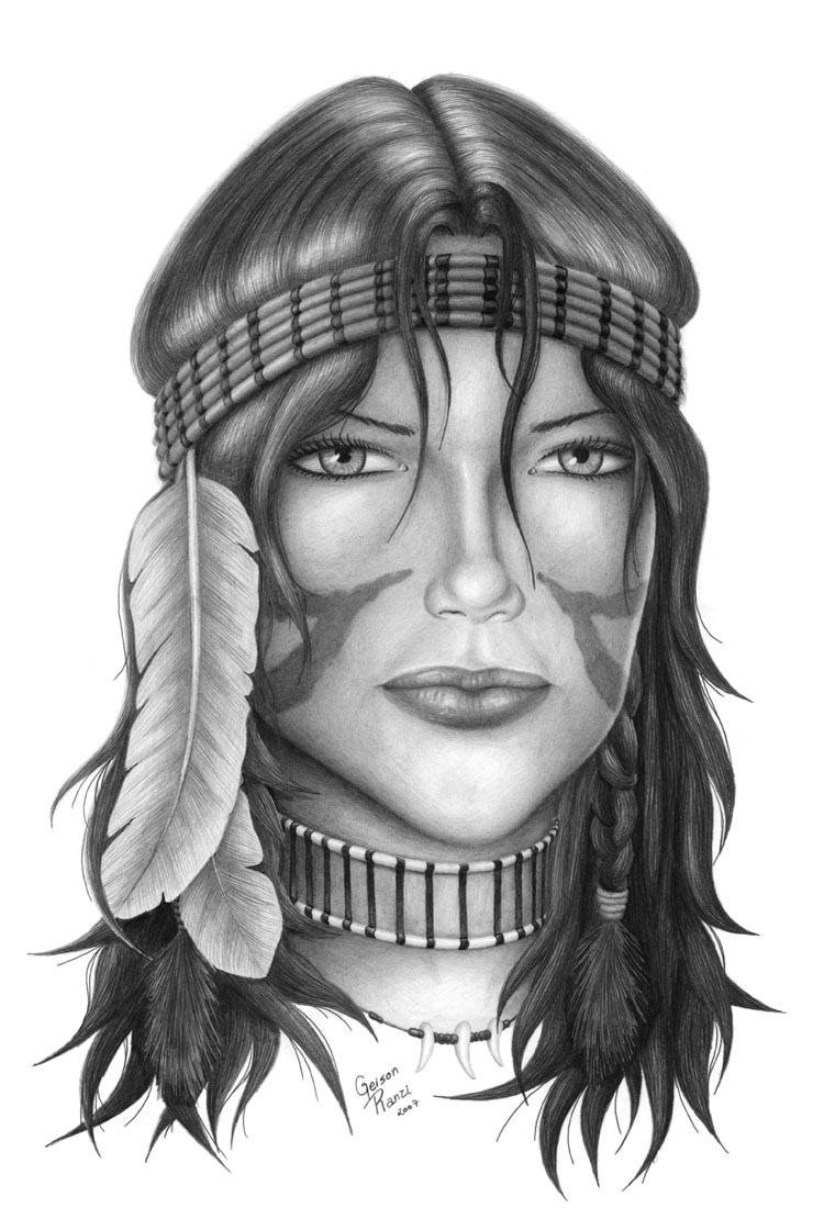 Indian Girl by Geison on DeviantArt