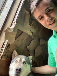 I encountered a real Wolf dog!! by TCurtis345