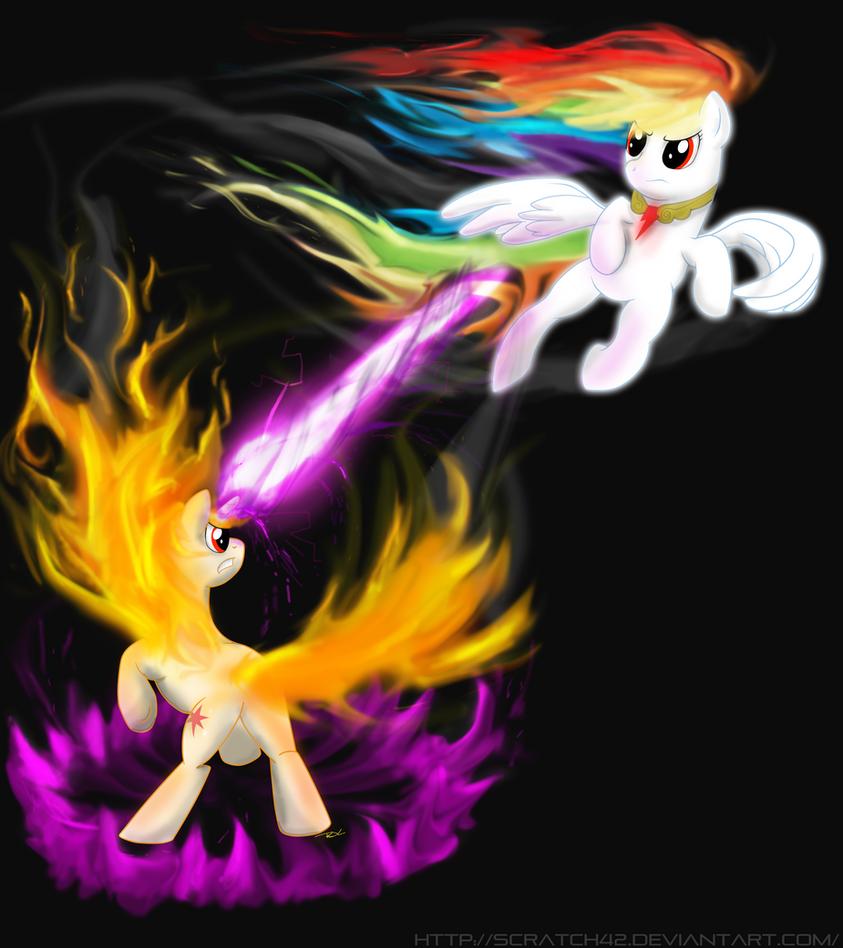 More Twilight vs Rainbow Dash by MajorCooke