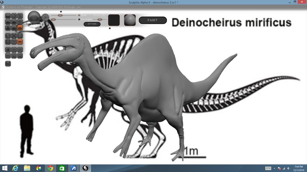 deinocheirus sculptris WIP - PaperModelers com