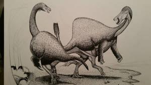 therizinosaurus vs deinocheirus