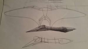 hatzegopteryx paper model WIP 2