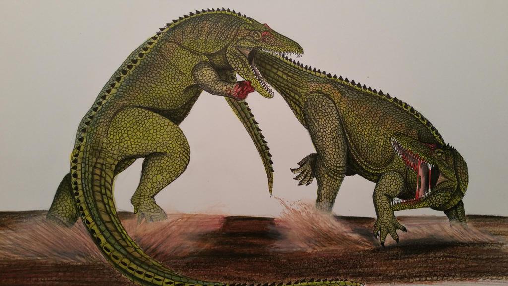 Carolina brawl by spinosaurus1