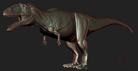 Giganotosaurus wip by spinosaurus1