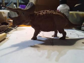 Trike WIP 3 by spinosaurus1