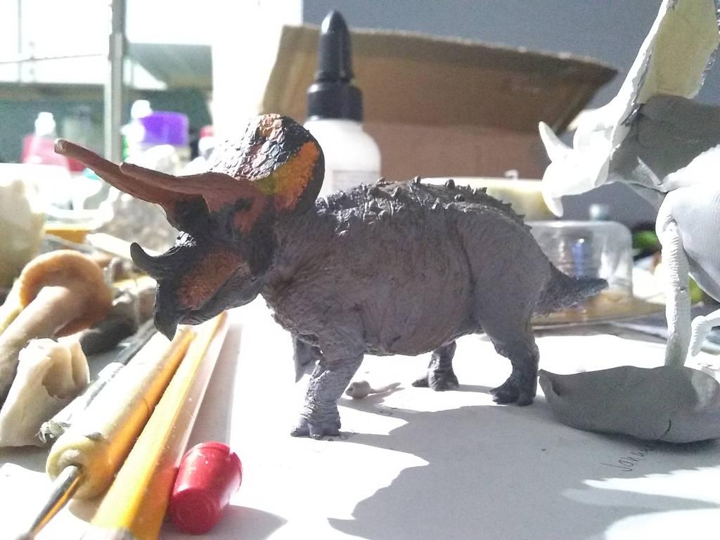 Trike WIP 5 by spinosaurus1