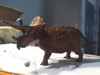 Trike WIP 6 by spinosaurus1