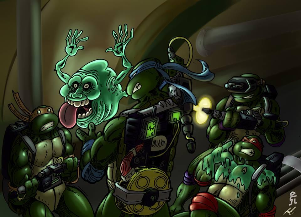 Las Ninja Tortugas Adolescentes Caza Fantasmas by mrpulp-presenta