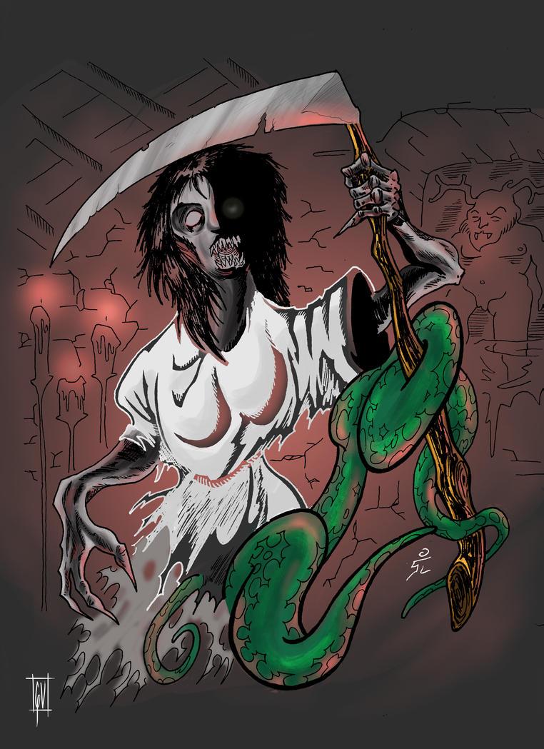 creepy lady by mrpulp-presenta