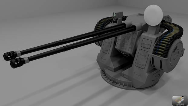 Dual 57 mm MK-5 turret View1 by JB1992