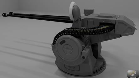 Dual 57 mm MK-5 turret View2 by JB1992
