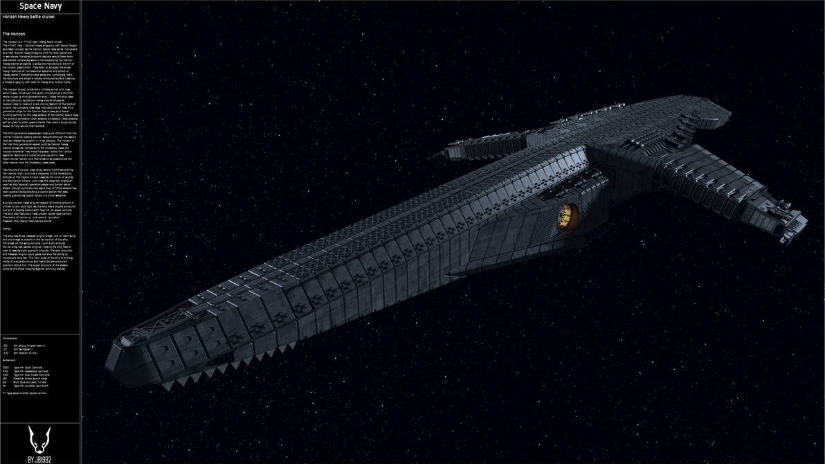 The Horizon Heavy Battlecruiser. by JB1992