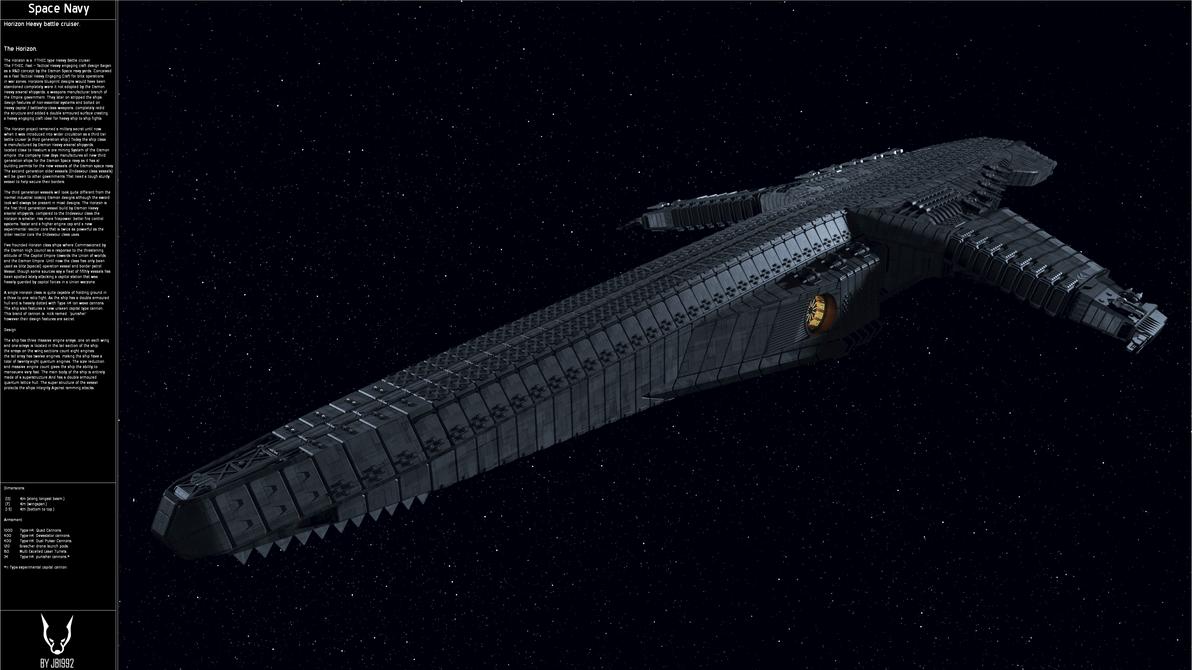 The Horizon Heavy Battlecruiser. by JB1992