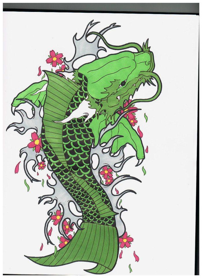 Green koi dragon by eddyd spoke2 on deviantart for Green koi fish