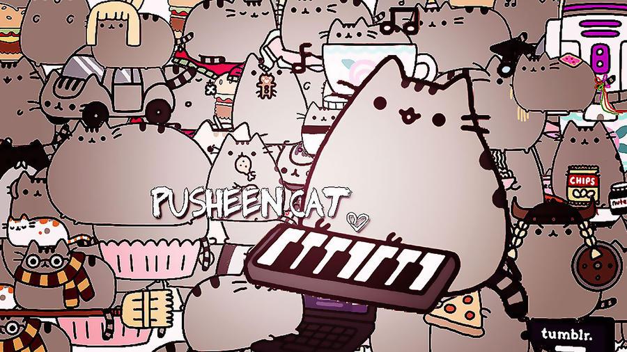 wallpaper pusheen cat 3 by lovingandpeace on deviantart
