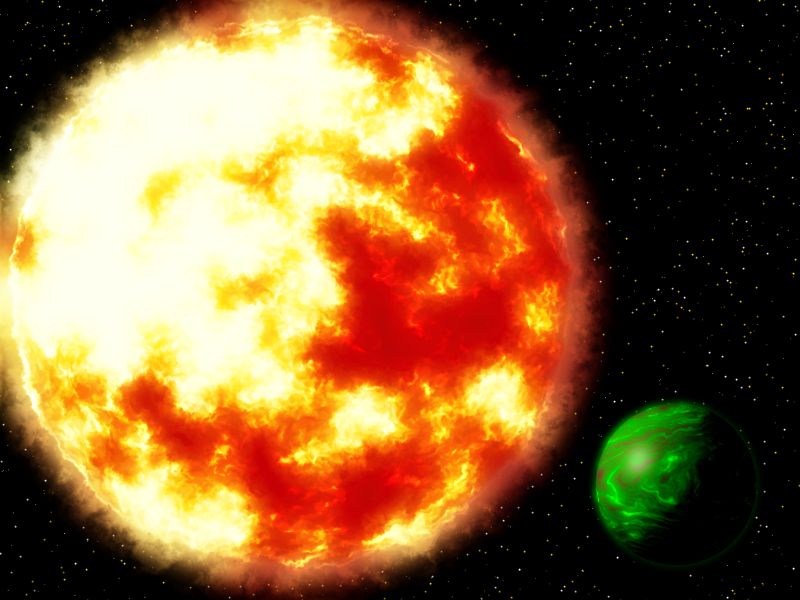 Red Giant with Gas Planet by BrianK2355 on DeviantArt