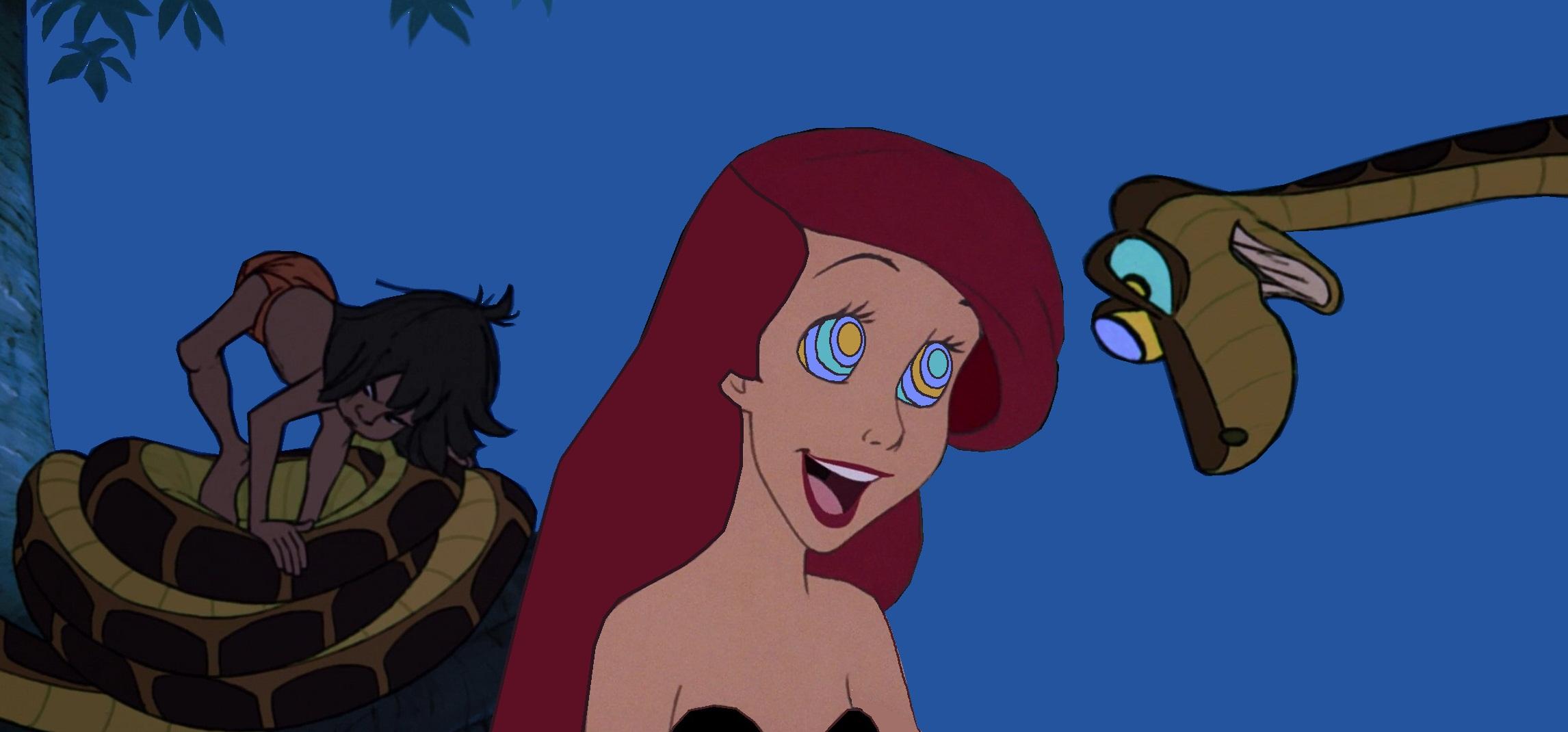Ariel And Mowgli Porn ariel and mowgli meet kaahypnotica on deviantart   joss