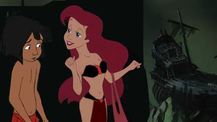 Ariel and Mowgli at Shipwreck Bay