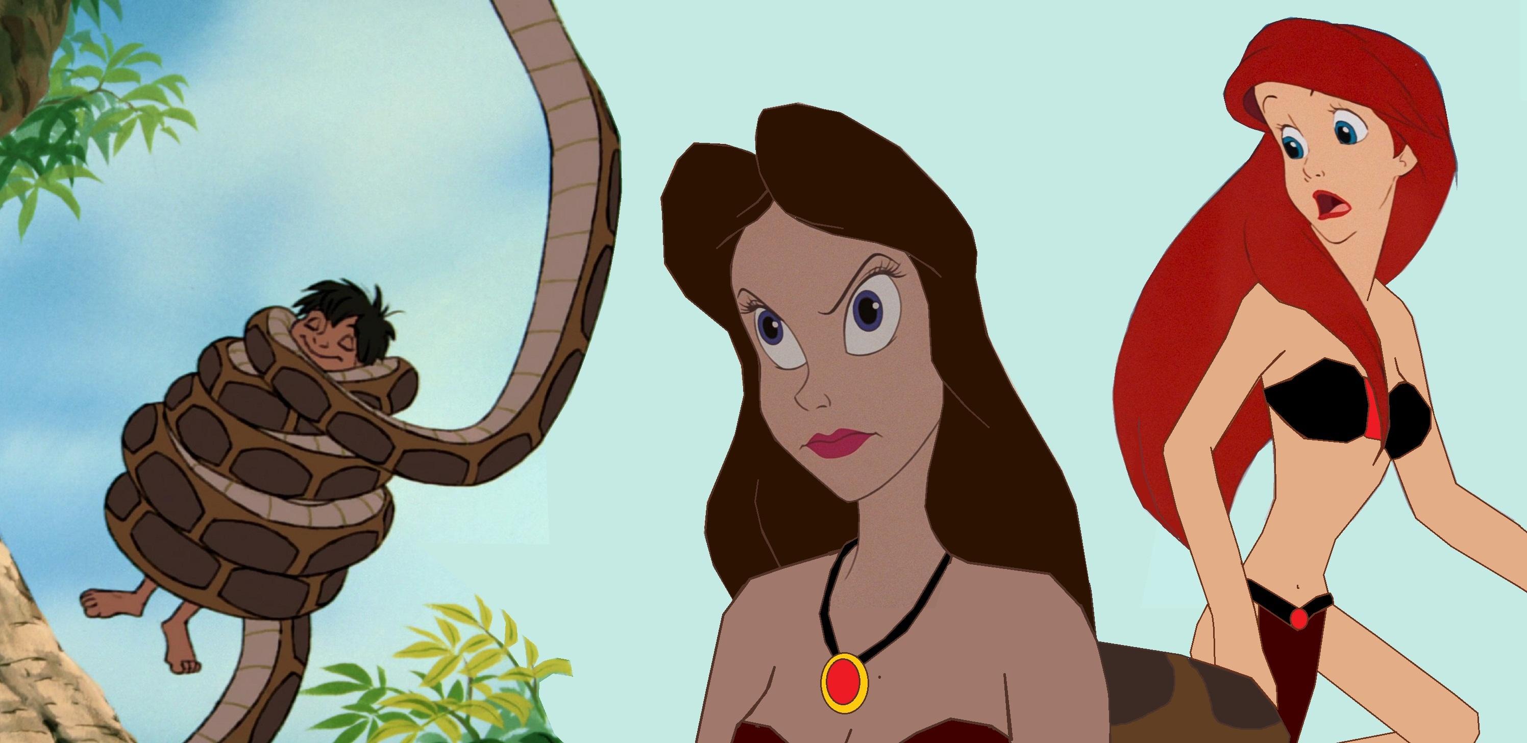 Ariel Rescues Mowgli From Agnitas Spell by hypnotica2002