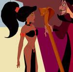 Slave Jasmine and Jafar: Casting His Spell