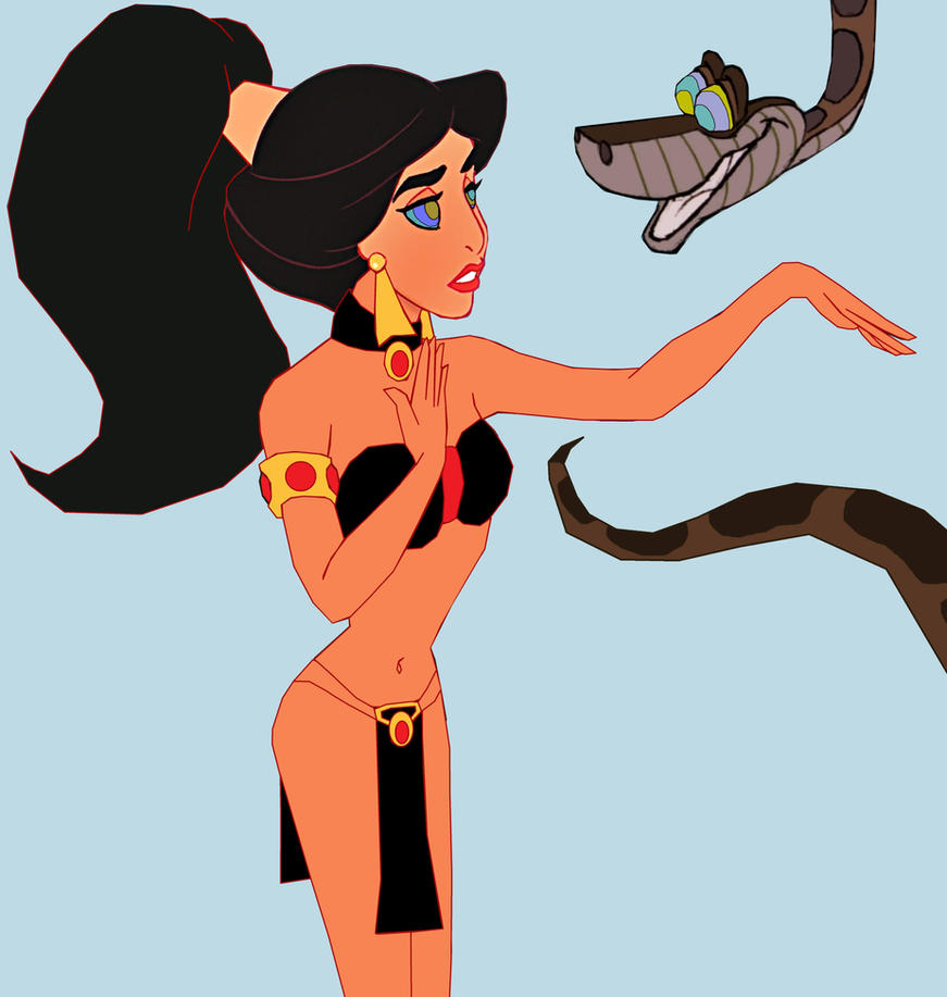 Slave Jasmine and Kaa: Jasmine's Slave Dance by hypnotica2002
