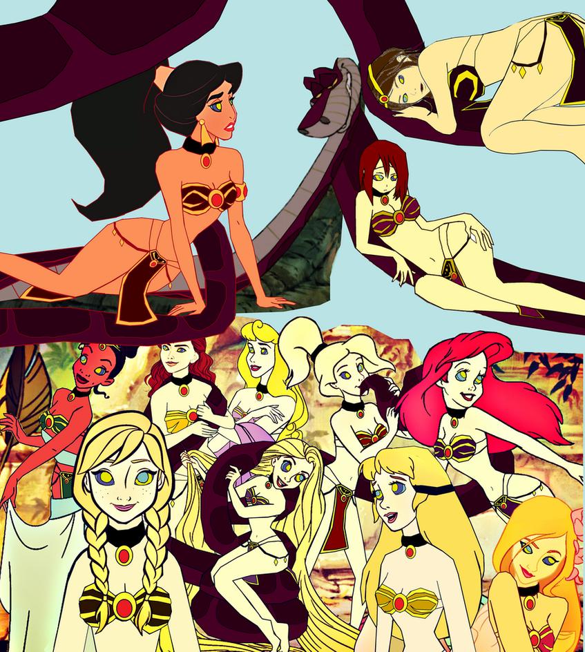 Kaa's Twelve Belly Dancing Princesses by hypnotica2002
