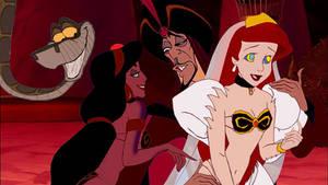 Ariel becomes Jafar's Harem Girl with Jasmine