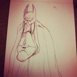 Batman sketch by kevbrett
