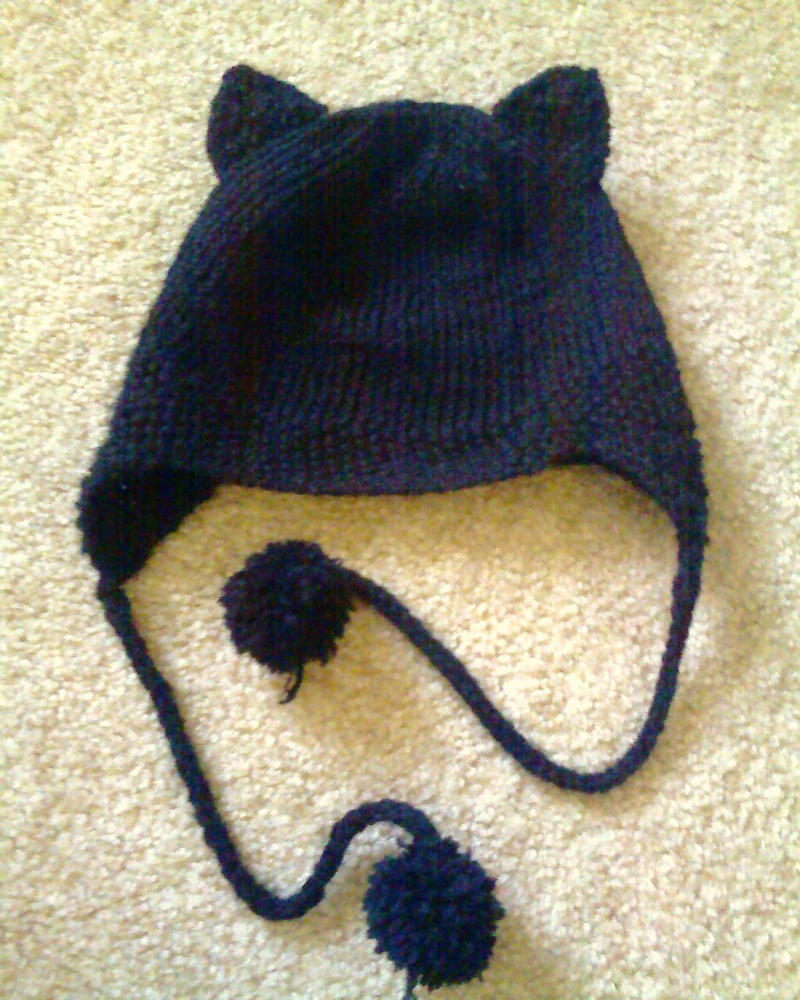 Knitting Patterns For Hats With Cat Ears : Knit hat - cat ears by Aseka on DeviantArt